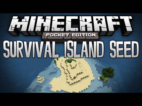 SURVIVAL ISLAND SEED w/ Abandoned Mineshafts! - Minecraft Pocket Edition