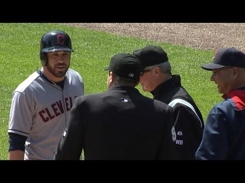 CLE@DET: Kipnis ejected after striking out in 3rd