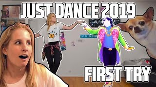 TRYING JUST DANCE 2019 for the FIRST TIME! 😱😂
