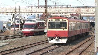 長野電鉄 2010年 特急ゆけむり同志の離合 現役時代の2000系、3500系 HDV 1720