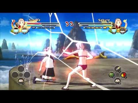 Naruto Storm 3: Swimsuit Kunoichi Vs School Kunoichi video