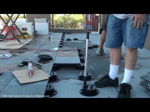 Building A Rooftop Deck With Stone Tiles At The New