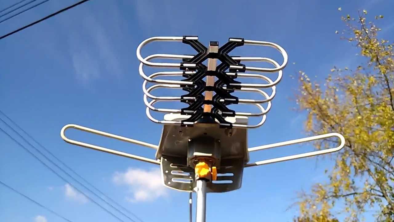 "The ""DALEK"" Long Range HD Antenna with Rotor 100+ miles ..."