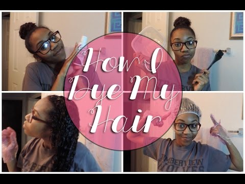 Satin Hair Dye How i Dye my Natural Hair