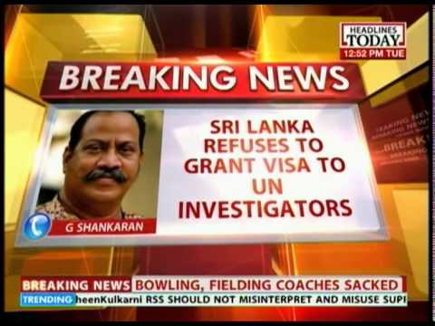Sri Lanka refuses Visas to UN investigators