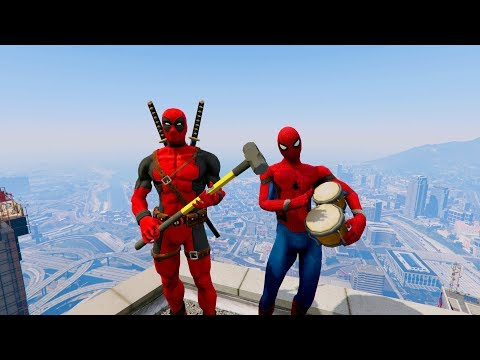 GTA 5 CRAZY Compilation #16 (Deadpool's/Spidey/Funny Moments)