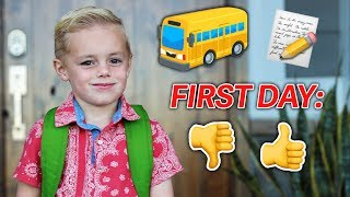 Calvin's FIRST DAY OF SCHOOL! Why So Late?? | Ellie and Jared