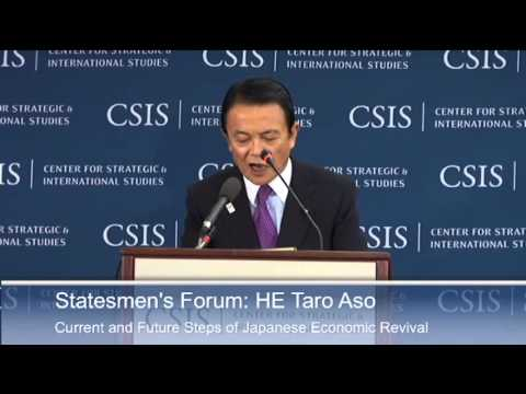 Statesmen's Forum: His Excellency Taro Aso, Finance Minister of Japan