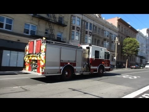 San Francisco Fire Department @ Post St &amp; Larkin St San Francisco California
