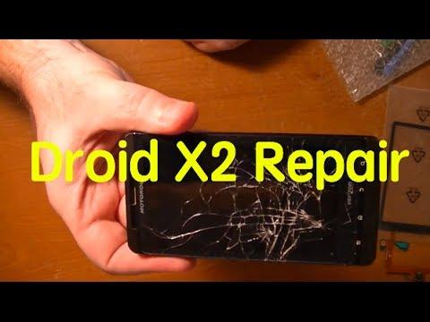 Motorola Droid X2 glass screen and digitizer repair - removing the broken screen