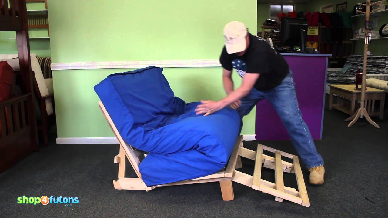 how to operate a tri fold futon lounger youtube