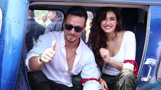 Tiger Shroff And Disha Patani's Grand Helicopter Entry For Baaghi 2 Trailer Launch
