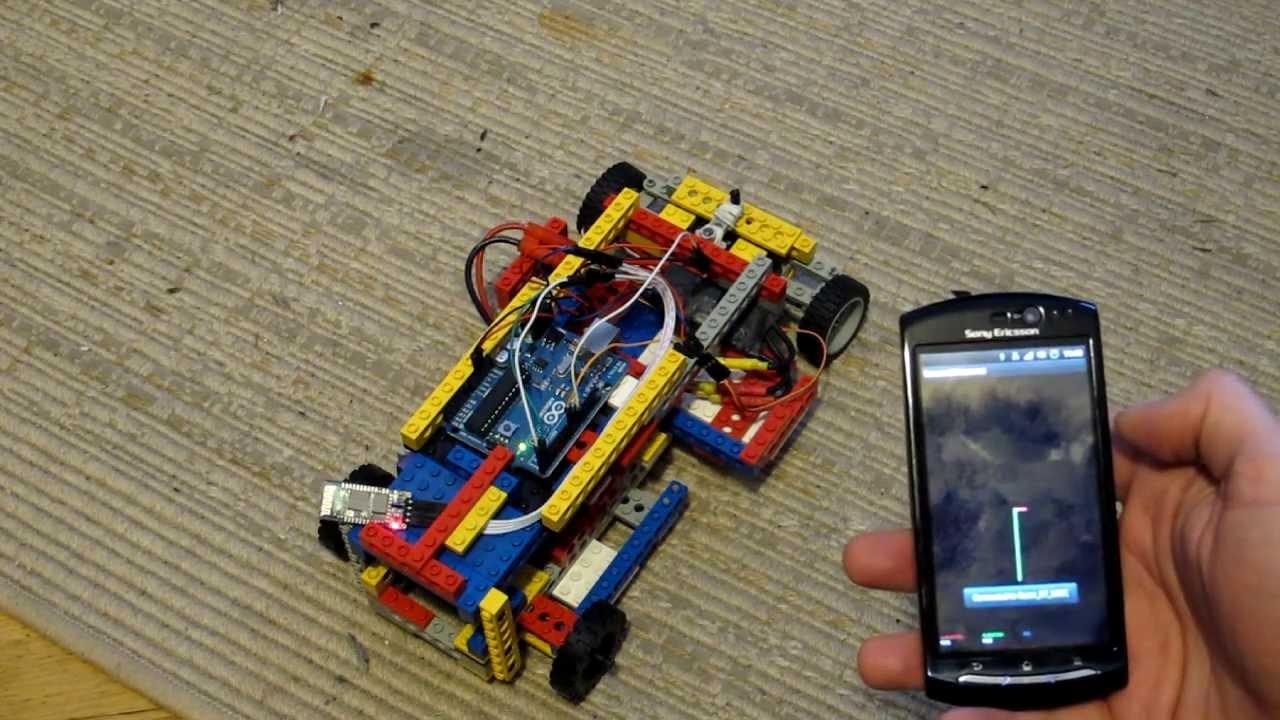 Lego car android arduino thru bluetooth remote