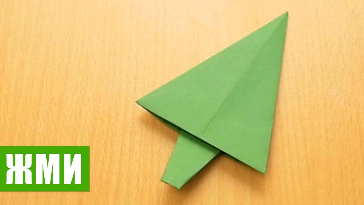 Как сделать 3д елку из бумаги