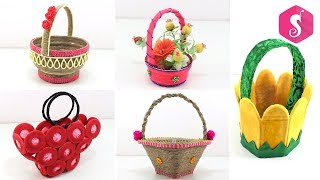 5 Basket Crafts ideas from Waste Things   Use Full DIY Basket
