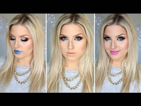 Easy & Sexy Cat Eye Makeup ♡ Plus 3 Lip Options! Tutorial