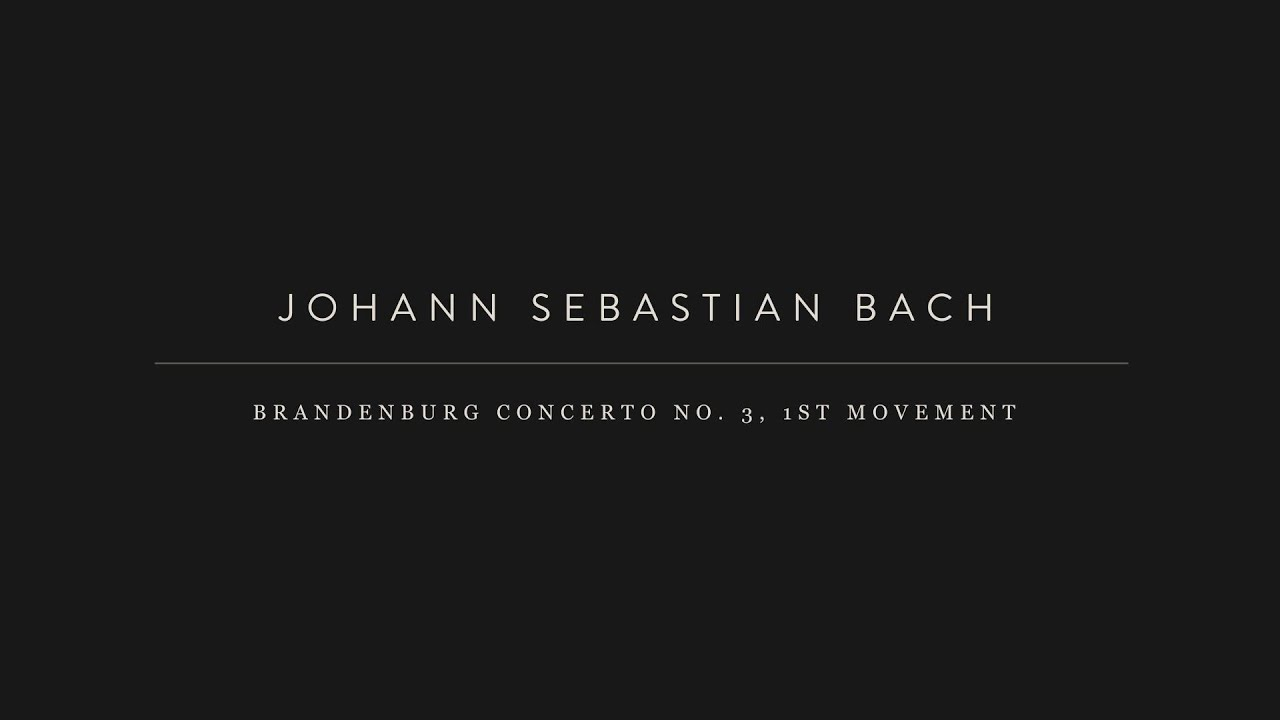 """a biography of johann sebastian bach a great contributor of music 1 in f major, bwv 1046first movement, """"allegro,"""" of js bach's  appearing at a  propitious moment in the history of music, bach was able to."""