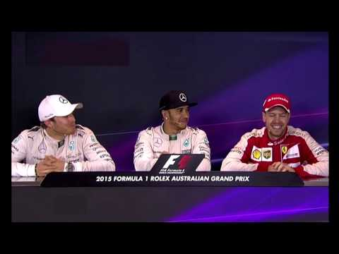 Vettel & Rosberg Tease Each Other '15 AUS GP