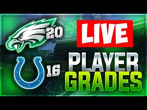PHILADELPHIA EAGLES 20 INDIANAPOLIS COLTS 16 | LIVE REACTION + PLAYER GRADES