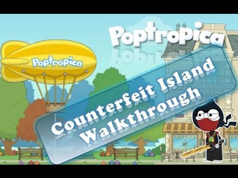 Poptropica Cheats For Counterfeit Island — Full Walkthrough
