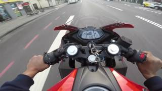 Yzf R125 - First ride with the new exhaust (Full akrapovic)