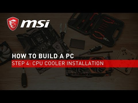 Step 4: CPU Cooler Installation | #YesWeBuild | MSI