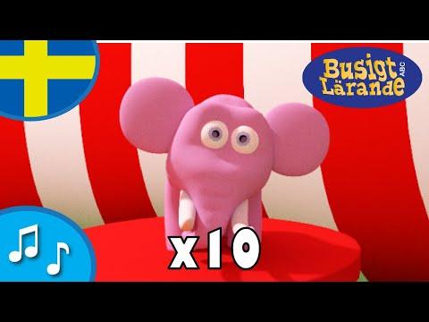 En elefant balanserade 10 gånger - Barnsånger för barn och bebisar - Busigt Lärande