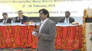 National Conference 2016@SMS Lucknow-Mr. Kumar Lalit G M-Head (HR, IR & Admin.) Tata Motors, Lko.