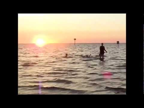 Playing in the Sunset at Pine Island, Florida