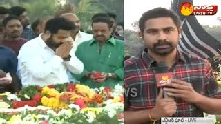 NTR 22nd Death Anniversary: Family pay tributes || Jr NTR || Kalyan Ram || Harikrishna