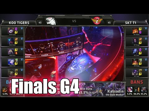 SK Telecom T1 vs KOO Tigers | Game 4 Grand Finals LoL S5 World Championship 2015 | SKT vs KOO G4
