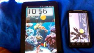 Samsung galaxy tablet and htc evo g4