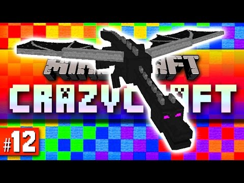 Minecraft Mods Crazy Craft #12 'DRAGON!' with Vikkstar & CraftBattleDuty (Minecraft Crazy Craft 2.1)