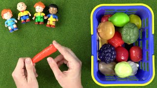 Learn Fruits And Vegetables With Caillou Toys | Learning For Kids Games | Toy Store - Toys For Kids