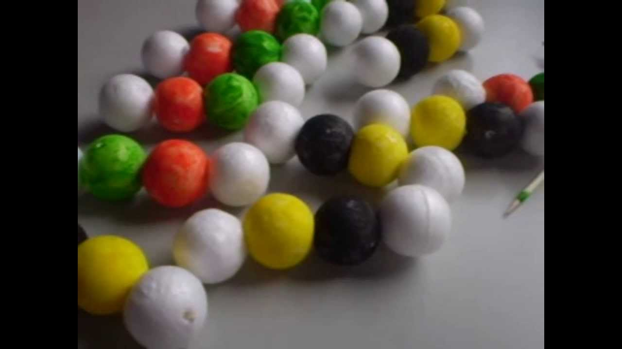Dna Model With Styrofoam Balls By Fernando Amp Paula Youtube