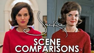 Jacqueline Kennedy and Jackie (2016) - scene comparisons