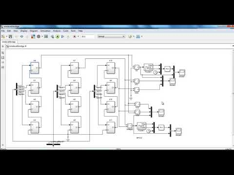 Space vector modulation using simulink