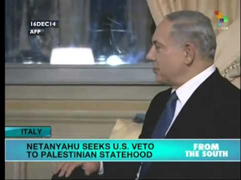 Kerry and Netanyahu meet in Italy to talk Palestine