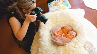 Photoshoot with ADORABLE IDENTICAL TWINS, newborn twins photography