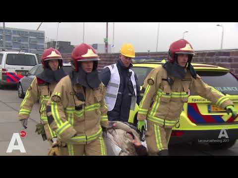 Nagebootste aanslag Zeeburgereiland: 'Samenwerking tussen hulpverleners trainen'