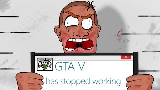 GTA 5 PC Funny Moments - GTA 5 has stopped working, RAGE ,RAGE x10 (GTA 5 PC Funny Moments)