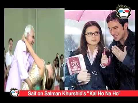 Saif Ali Khan reaction on Salman Khurshid Kal Ho Na Ho Video