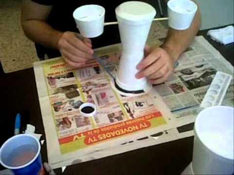 Desaf o uninorte 2010 vasos desechables youtube - Manualidades con vasos de plastico ...
