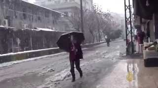 ستة قتلى في لبنان وسوريا جراء العاصفة الثلجية