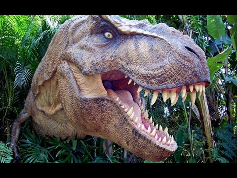Tyrannosaur Dinosaur Scaring Kids At Queensland Museum.