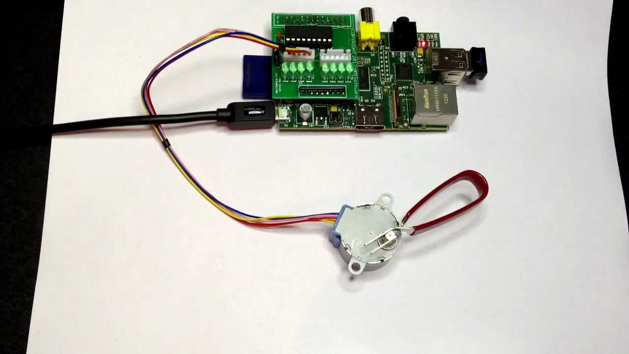 Raspberry Pi Stepper Motor Java Pi4j Youtube