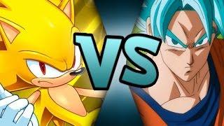Goku (dragon ball super) vs Sonic (games) 1/2