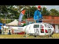 STUNNING HUGE  RC SCALE 1:4 ALOUETTE III SCALE ELECTRIC MODEL HELICOPTER FLIGHT DEMONSTRATION