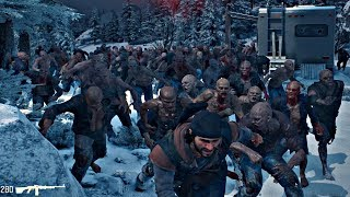 Days Gone - Mcleod Ridge Zombies Horde Boss Battle (Days Gone 2019) PS4 Pro
