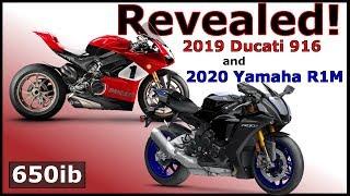 2019 Ducati Panigale 916 & 2020 Yamaha R1M | 🌏 DEBUT at Laguna Seca!
